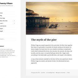 WordPress 4.1 では新しい公式テーマ Twenty Fifteen が登場